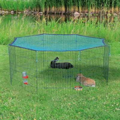 Trixie Freilaufgehege mit Schutznetz 8 Elemente ø150×57  cm