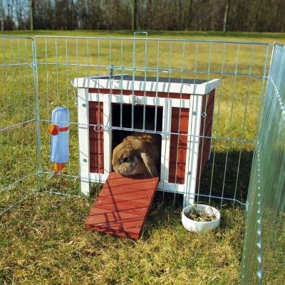 Trixie Casetta per Piccoli Animali, Rosso/Bianco Marrone scuro 42×43×51 cm