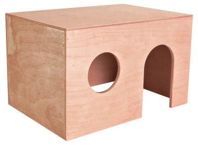 Trixie Meerschweinchenhaus, Holz 24×15×15 cm Hellbraun