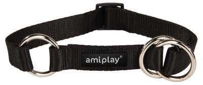 Amiplay Half-check collar Basic Sort XL