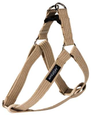 Amiplay Adjustable Cotton Harness Beige L