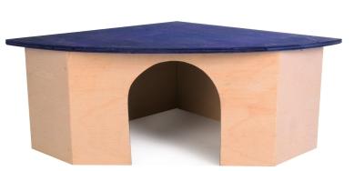Trixie Casetta Angolare in Legno 38×15×27/27 cm