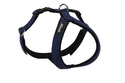 amiplay Adjustable Cotton Harness Grand Soft, Navy Blue Marineblå L