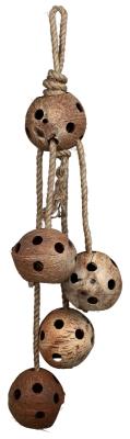 Trixie Kokosnüsse am Juteseil Braun 72 cm