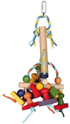 Trixie Holzspielzeug mit Papierbändern 31 cm