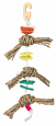 Trixie Natural Toy on a Sisal Rope with Luffa 43 cm