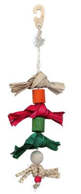 Trixie Naturspielzeug am Sisalseil, mit Palmenblatt Verschiedenfarbig 38 cm