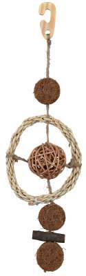 Trixie Natural Toy on a Sisal Rope with Coconut Fibres Brown 35 cm
