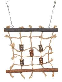 Trixie Natural Living Rope Climbing Wall  Brown