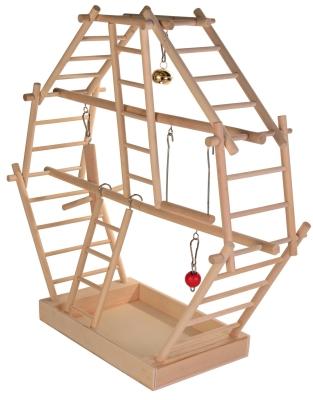 Trixie Área Juego Madera, Escaleras 44×44×16  cm