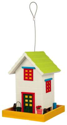 Trixie Hanging Bird Feeder Home, Wood Multicolor 18×24×18 cm