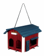 Trixie Hanging Bird Feeder Barn, Wood  Brown