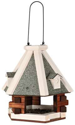 Trixie Natura Hanging Bird Feeder, brown/white 36×35  cm