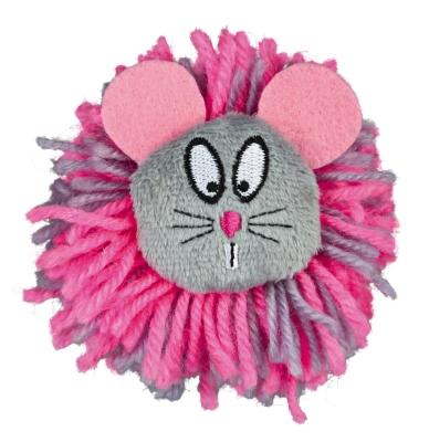 Trixie Rato Pompon, Lã/Pelúcia Rosa quente 8 cm