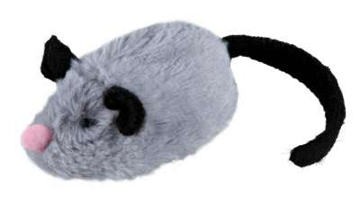 Trixie Active-Mouse in Peluche Grigio 8 cm