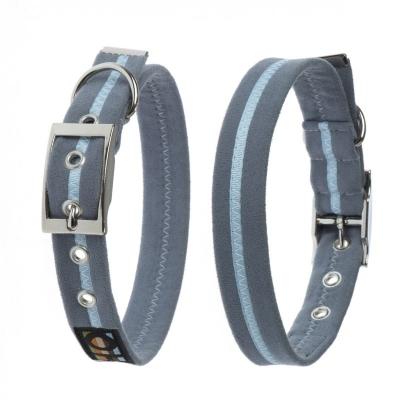 Oscar & Hooch Dog Collar - Signature Range Γκρι-μπλε XXS