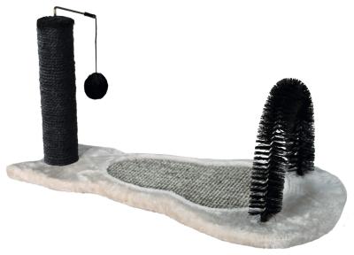 Trixie Kratzbrett mit Stamm Grau 70x35x35 cm