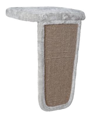 Trixie Liegeplatte mit Kratzbrett für Fensterbänke Hellgrau 45x62x32 cm