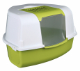 Tadeo Open Top Corner Litter Tray with Hood  Olive by Trixie