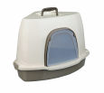 Alvaro Corner Litter Tray with Hood  Taupe by Trixie