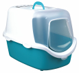 Trixie Vico Easy Clean Litter Tray, with Hood  Aqua