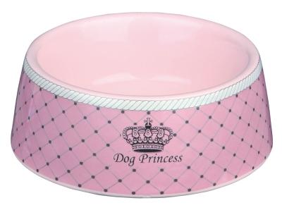 Trixie Dog Princess Ceramic Bowl, ø16 cm Lyserød 450 ml
