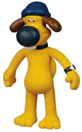 Trixie Shaun The Sheep Hund Bitzer, Latex  18 cm Gold