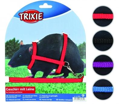Trixie Pettorina con Guinzaglio per Furetti e Ratti 12-25 cm