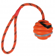 Trixie Wavy Ball on a Rope, Natural Rubber Orange billige