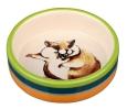 Trixie  Keramiknapf mit Tierbildern  Hellgrün