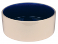 Trixie Ceramic Bowl, cream/blue 2.3 l