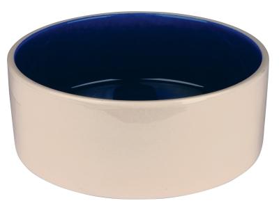 Trixie Keramikskål, creme/blå 2.3 l