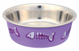 Trixie Stainless Steel Bowl with Plastic Coating  12 cm