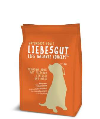 Liebesgut Premium Adult with fresh Poultry and Millet  3 kg, 1 kg