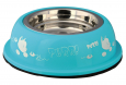 "Stainless Steel Bowl with Plastic Holder, Purr!""  18 cm fra Trixie"