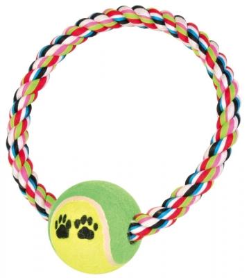 Trixie Denta Fun Tauring mit Tennisball ø6x18 cm