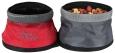 Travel Double Bowl, Polyester  Rød fra Trixie