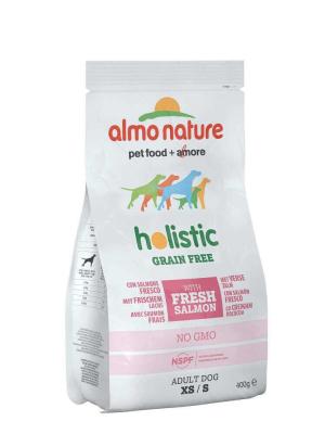Almo Nature Holistic Grain Free con Salmone Fresco XS / S  400 g, 2 kg