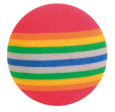 Trixie Set of Rainbow Balls, Foam 4 cm