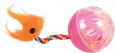 Trixie Set of Rattling Balls with Tails, Plastic 4 cm