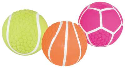 Trixie Assortiment Sportballen, latex 8 cm