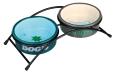 """Trixie Eat on Feet Ceramic Bowl Set """"Dog's"""" 2x300 ml"""