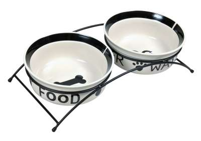 Trixie Eat on Feet Ceramic Bowl Set 2x250 ml Vit