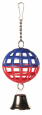 Trixie Lattice Ball with Chain and Bell 7 cm Halvat