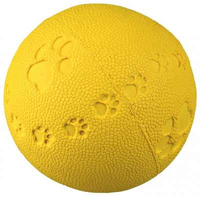 Trixie Toy Ball Natural Rubber with Paw Print 6 cm