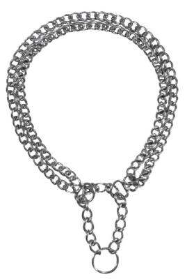 Trixie Zug-Stopp-Kettenhalsband, Verchromt, 2-reihig Double row  30x0.2 cm