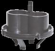 Zentrierring für UV-C-Lampe Schwarz von Sera