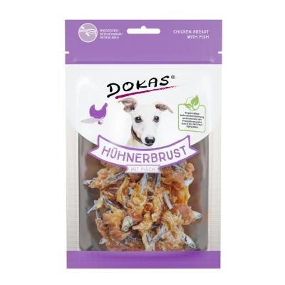 Dokas Lanche para Cães Peito de Frango 70 g Peixe