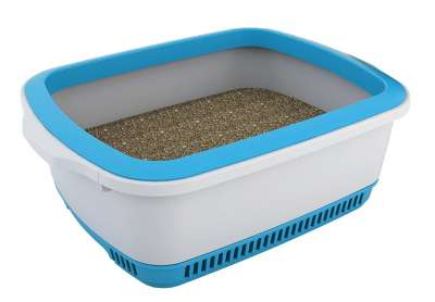 Cateco Self Drying Litter Box Light blue