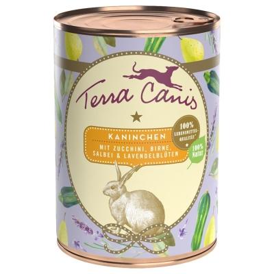 Terra Canis Menù estivo - Coniglio con Zucchine, Pera, Salvia e Fiori di Lavanda  400 g